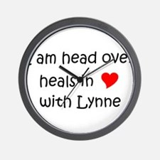 Funny I love lynne Wall Clock