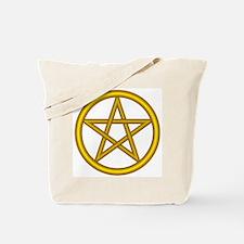 Unicorn Gold Pentagram Tote Bag