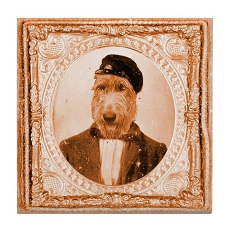 Irish Wolfhound RUPERT Tile Coaster