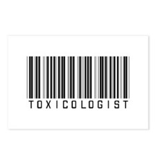 Toxicologist Barcode Postcards (Package of 8)