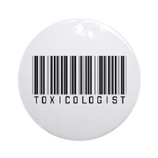 Toxicologist Barcode Ornament (Round)