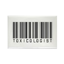 Toxicologist Barcode Rectangle Magnet