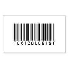 Toxicologist Barcode Rectangle Decal