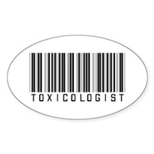 Toxicologist Barcode Oval Sticker (10 pk)