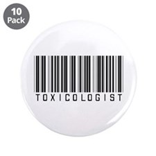 """Toxicologist Barcode 3.5"""" Button (10 pack)"""