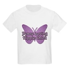 Peace Loving Hippie Chick T-Shirt