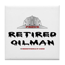 Retired Oilman Tile Coaster