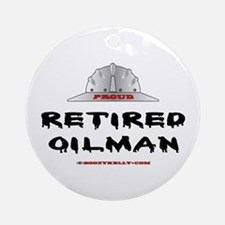 Retired Oilman Ornament (Round)