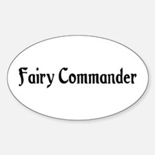 Fairy Commander Oval Decal