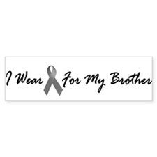 I Wear Grey For My Brother 1 Bumper Bumper Sticker