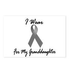 I Wear Grey For My Granddaughter 1 Postcards (Pack