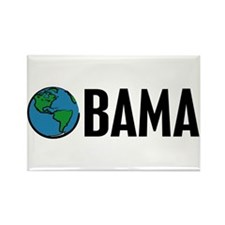 Obama (Earth) Rectangle Magnet