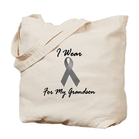 I Wear Grey For My Grandson 1 Tote Bag