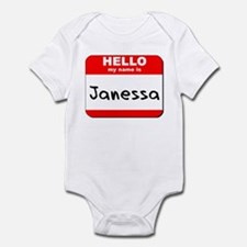 Hello my name is Janessa Infant Bodysuit