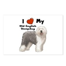 I Love My English Sheepdog Postcards (Package of 8