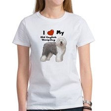 I Love My English Sheepdog Tee