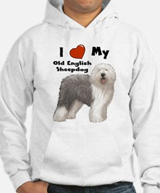 I Love My English Sheepdog Hoodie