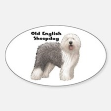 Old English Sheepdog Oval Decal