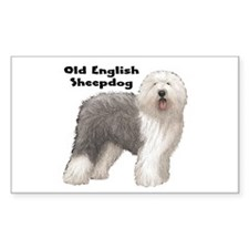 Old English Sheepdog Rectangle Decal