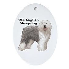 Old English Sheepdog Oval Ornament