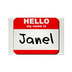 Hello my name is Janel Rectangle Magnet (10 pack)
