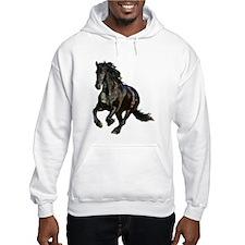 Black Stallion Horse Hoodie