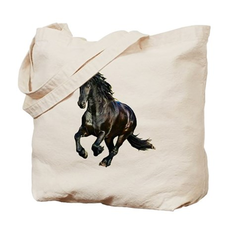 Black Stallion Horse Tote Bag