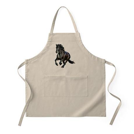 Black Stallion Horse BBQ Apron