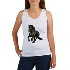 Black Stallion Horse Women's Tank Top
