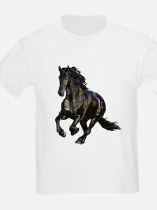 Black Stallion Horse T-Shirt