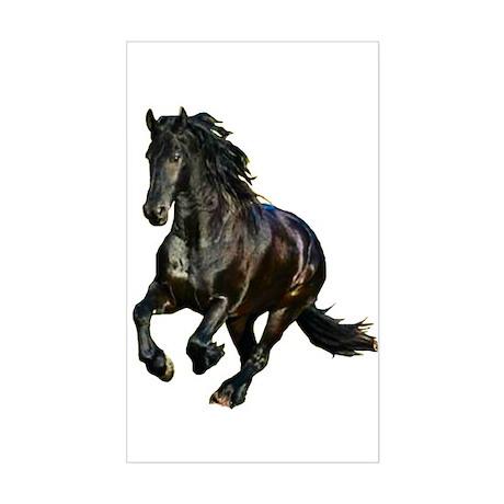 Black Stallion Horse Rectangle Sticker