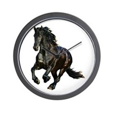 Black Stallion Horse Wall Clock