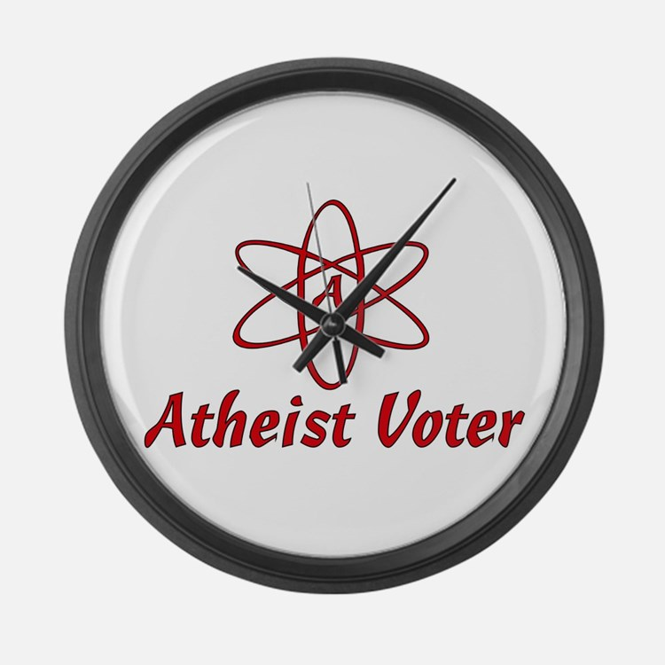 Atheist Voter Large Wall Clock