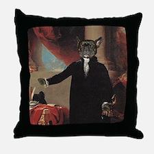 French Bulldog WASHINGTON Throw Pillow