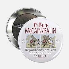 "McCain Palin Sick Elephants 2.25"" Button"