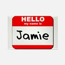 Hello my name is Jamie Rectangle Magnet