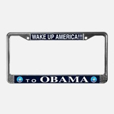 Wake Up to Obama License Plate Frame