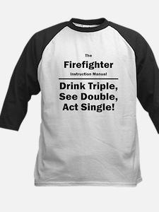 Firefighter Kids Baseball Jersey
