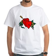 Two Hearts True Love Tattoo (Front) Shirt