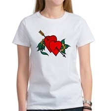 Two Hearts True Love Tattoo Tee