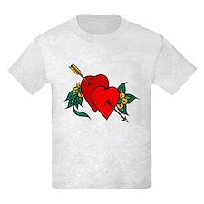 Two Hearts True Love Tattoo T-Shirt