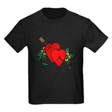 Two Hearts True Love Tattoo (Front) T