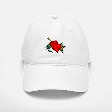 Two Hearts True Love Tattoo Baseball Baseball Cap