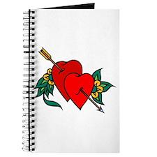 Two Hearts True Love Tattoo Journal