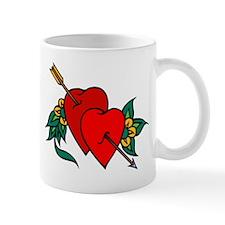 Two Hearts True Love Tattoo Mug