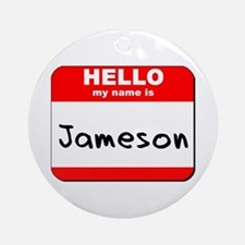 Hello my name is Jameson Ornament (Round)