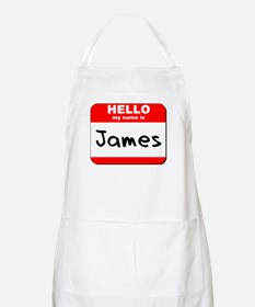 Hello my name is James BBQ Apron