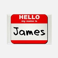 Hello my name is James Rectangle Magnet