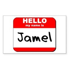 Hello my name is Jamel Rectangle Decal