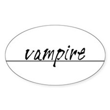 Minimal Vampire Costume Decal